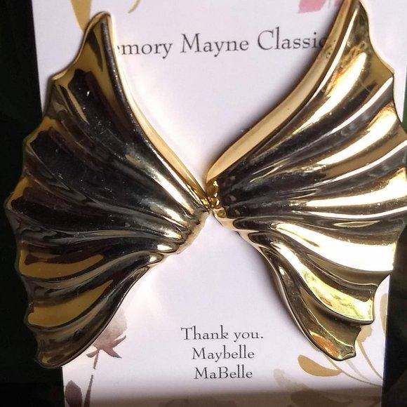 3/$25  'gold' wonder woman wing earrings